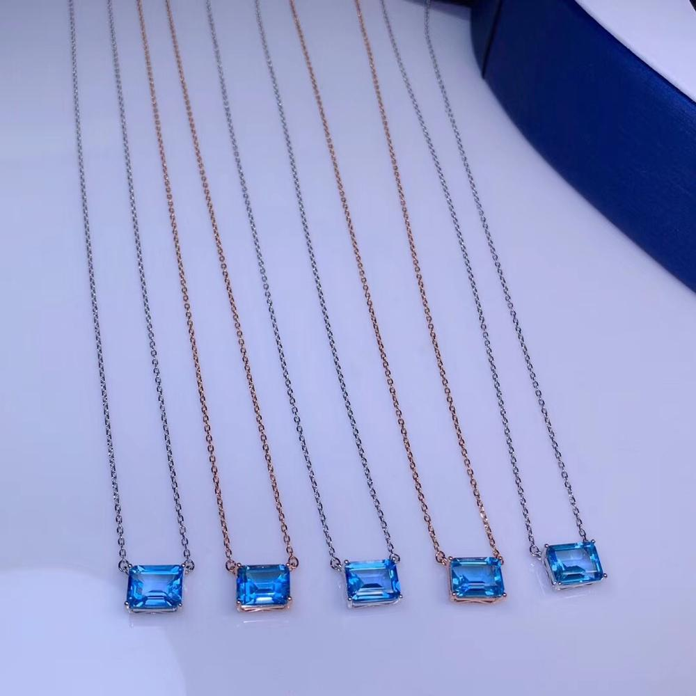 The latest design, natural Topaz necklace, 925 silver, hot selling, super cheap
