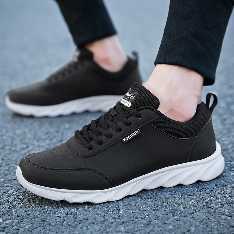 Image 4 - PU Leather Casual Shoes Mens Sneakers Men Lace Up Spring  Arrival Breathable Leisure Footwear Board Shoes Males Adult MasculinoMens Casual Shoes   -