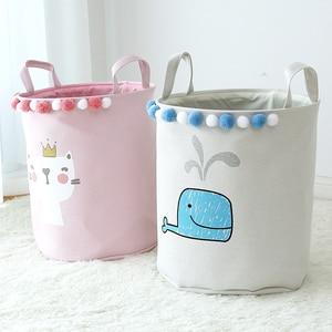 Ins Style Folding Laundry Toys Basket Storage Barrel Laundry Bas ket Bucket Laundry Organizer Desktop Organization