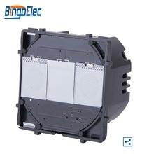 Bingoelec EU/UK Style Hot Sale1 Gang 2 Way Touch Sensor Light Switch Modular Function Part, No Glass Panel