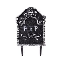 1 pcs Halloween Tombstone Skeleton Haunted House Stone Grisly Props Party Decor Yard