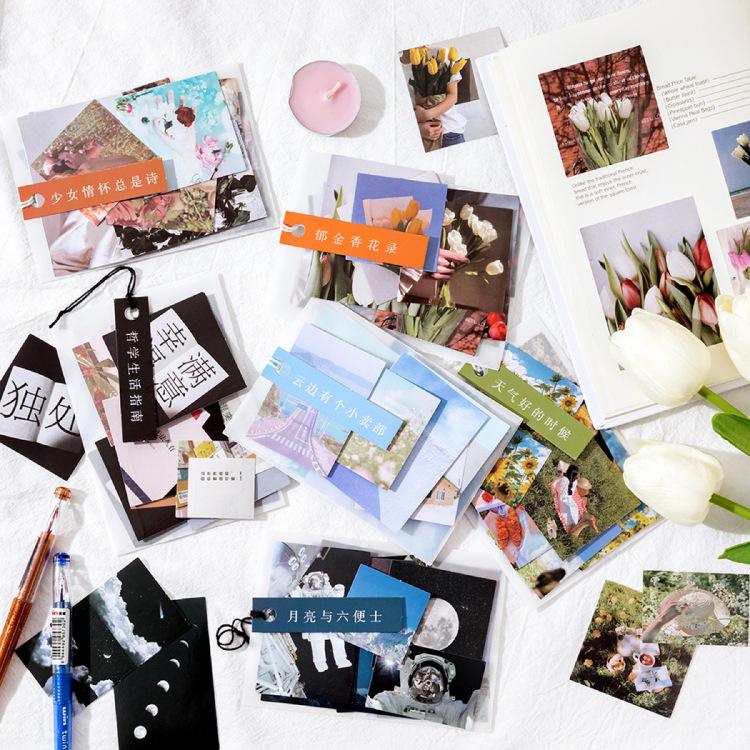 40 Pcs A Video Gallery Series Journal Decorative Stickers Scrapbooking Stick Label Diary Stationery Album Flower Film Stickers