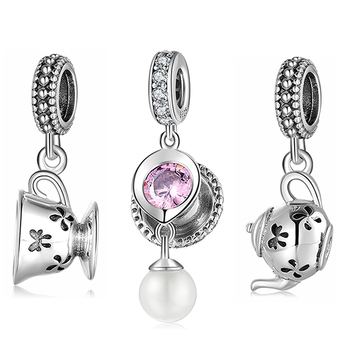 Charm Tea Cup 925 Sterling Silver Jewellery
