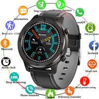 Новые водонепроницаемые Смарт-часы для мужчин, монитор сердечного ритма, кровяного давления, полный сенсорный экран, музыкальный контроль, ...