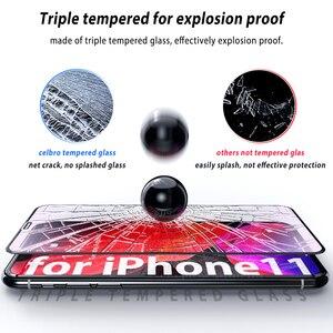 Image 5 - מסך מגן עבור iPhone 11 פרו מקס זכוכית מזג סרט מלא כיסוי קריסטל טלפון זכוכית עבור iPhone 11 Pro מקסימום X XS Max Xr סרט