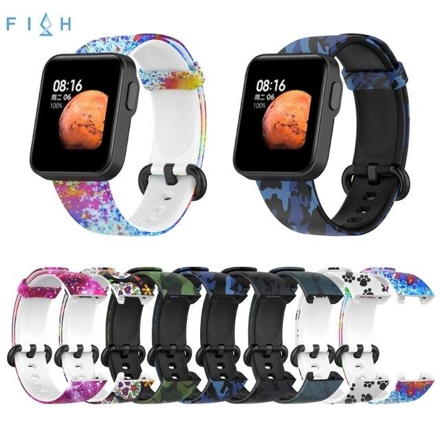 のためのxiaomi mi腕時計liteグローバル版の交換カラフルなリストバンドredmi腕時計mi腕時計lite sma