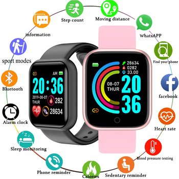 Smart Watch Men Women Smartwatch Heart Rate Blood Pressure Monitor Fitness Tracker Watch Smart Bracelet for Android and IOS 1