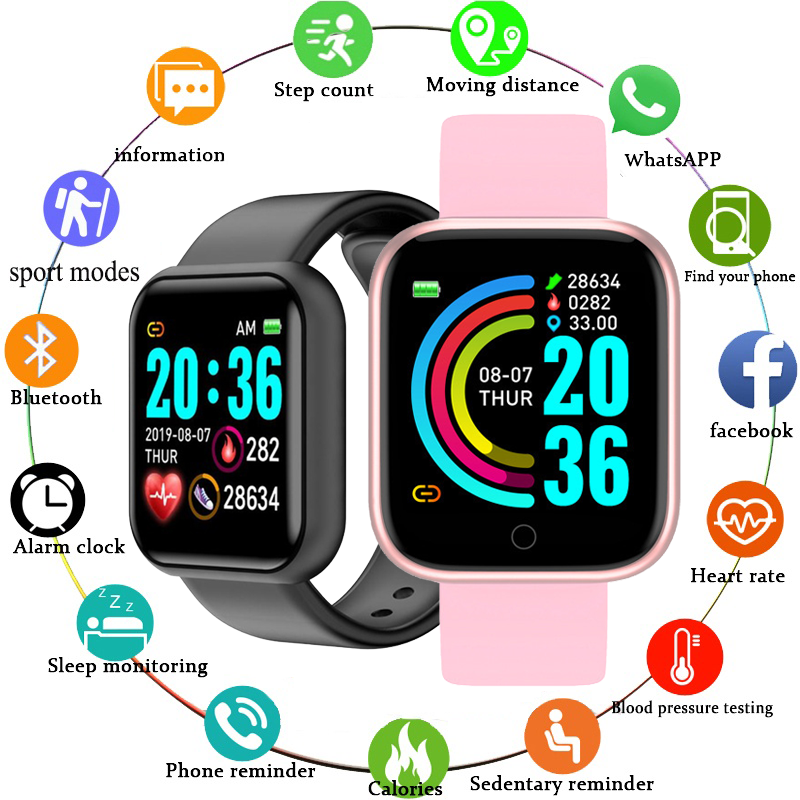 Smart Watch Men Women Smartwatch Heart Rate Blood Pressure Monitor Fitness Tracker Watch Smart Bracelet for Android and IOS