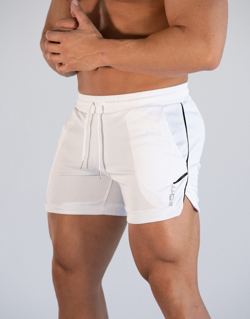 2020 Solid Color Running Shorts Men Solid Color Quick Dry GYM Sport Shorts Fitness Jogging Workout Shorts Men Sports Short Pants