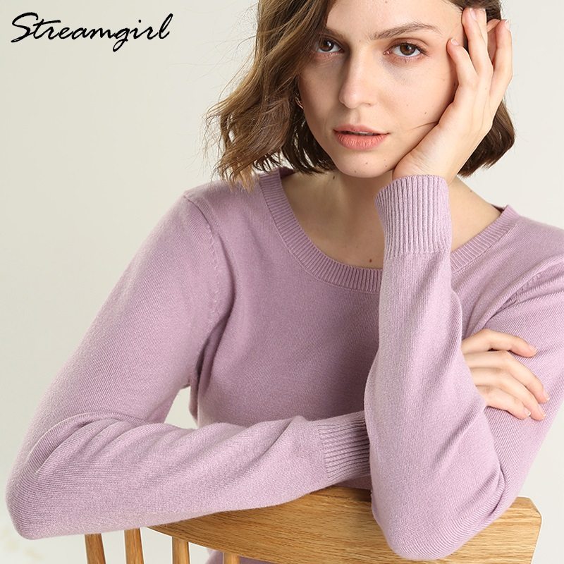 Pink Winter Sweater Women Pullover Knitted O Neck Womens Sweaters 2019 Winter Warm Pull Femme Nouveaute 2019 Jumpers Ladies