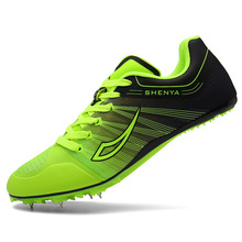 Man Track Field Shoes Women Spikes Racing Shoes Breathable Mesh Tracking Shoes Training Sneakers D0873