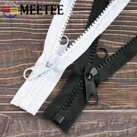 Meetee 1/2/3/4/5 Meter 10 # Harz Zipper Offene Schwanz Doppel Side Slider schloss für Nähen Jacke Mantel Knopfleiste Zelt Lange Zip ZA211