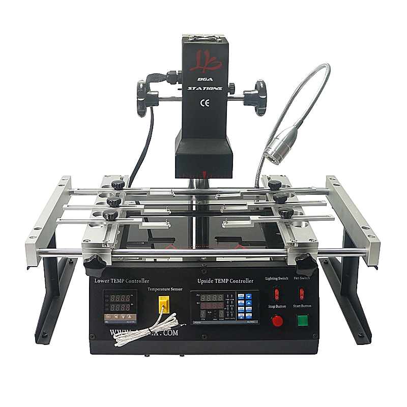 LY IR6500 V.2 Infrared BGA Rework Station 2 Zones Infrared 2300W BGA Repair Soldering Station Motherboards Machine