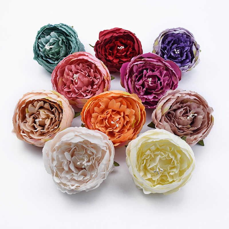 2/5 Stuks 8CM zijdepioen bruiloft decoratieve bloemen muur meeldraden kunstbloemen kerst decoraties voor woonaccessoires