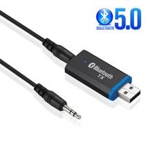 بلوتوث 5.0 الارسال 3.5 3.5 مللي متر جاك AUX ستيريو USB بلوتوث دونجل محول الصوت اللاسلكية الارسال ل سماعات التلفزيون PC