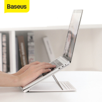 Baseus Adjustable Laptop Stand Foldable Desktop Holder for Notebook MacBook Computer Bracket Lifting Cooling Holder Non-slip