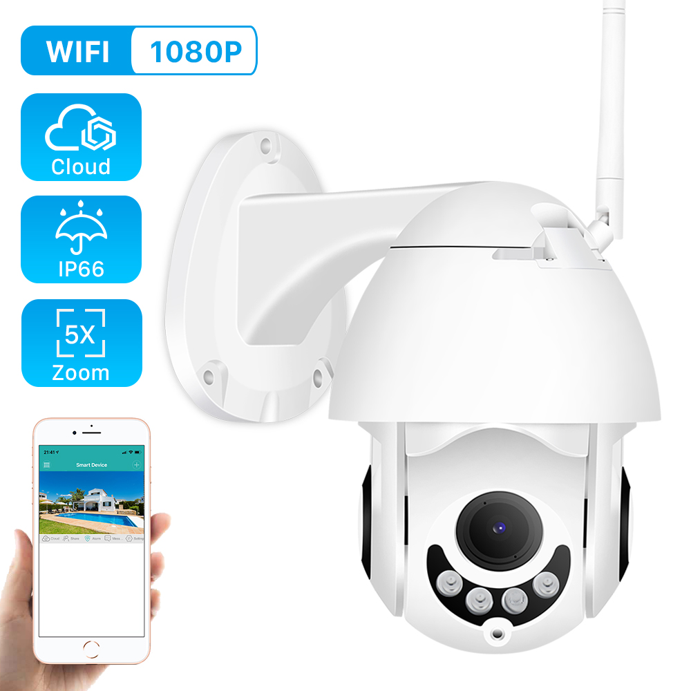 Ip-Camera Outdoor Audio Optical-Zoom Speed Dome 1080p Ptz Night-Vision ONVIF Wireless
