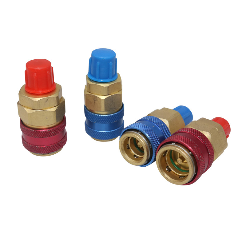 Gorgeri Pressure Quick Couplings,R134a Auto Car Quick Coupler Connector Brass Adapters Low /& High Side AC Manifold
