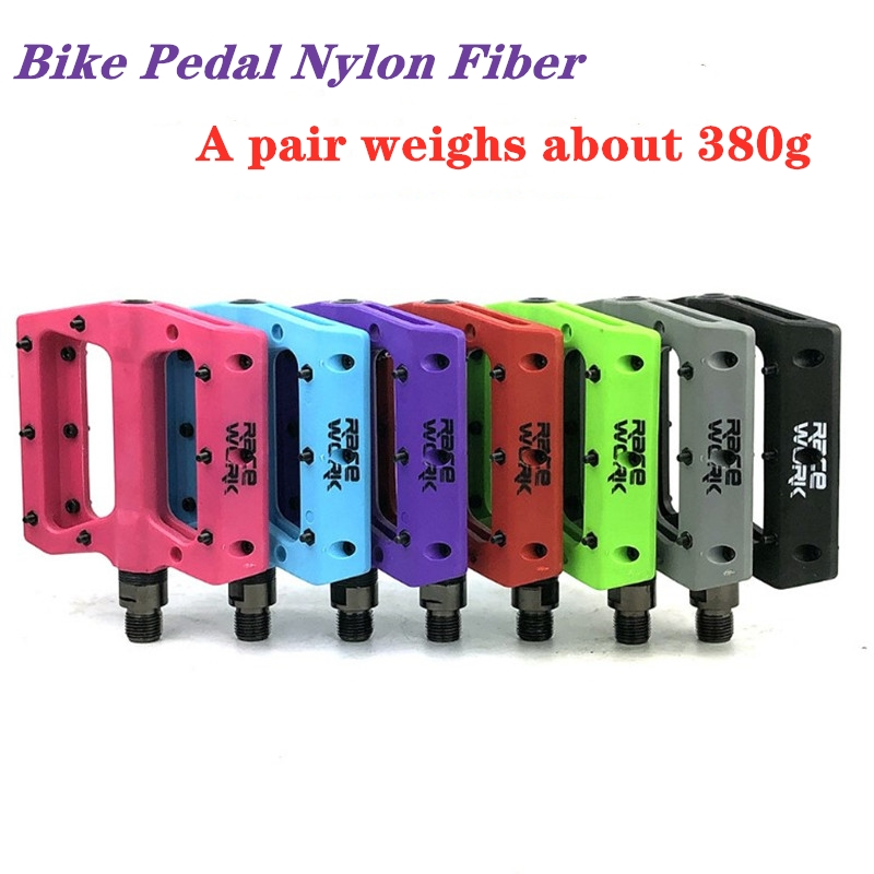 Racework Bicycle Nylon Pedals Mtb Contact Automatic Flat Mountain Platform Racing Bike foot hold footrest Bicycle Accessories
