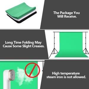 Image 5 - ZUOCHEN fotoğraf stüdyosu arka plan desteği stant kiti siyah beyaz yeşil ekran zemin seti