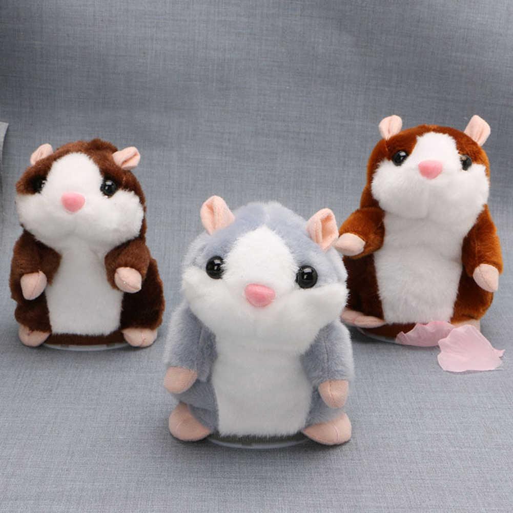 Kids Talking Hamster Muis Pet Pluchen Speelgoed Hot Cute Speak Talking Sound Record Hamster Educatief Speelgoed voor Kinderen Geschenken 15 cm