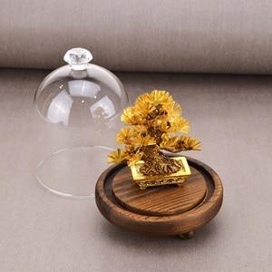 Image 3 - פנג שואי דקור מזל עושר קישוט 24k זהב לסכל אורן עץ זהב מלאכות משרד שולחן העבודה מזל קישוטי עיצוב הבית מתנות