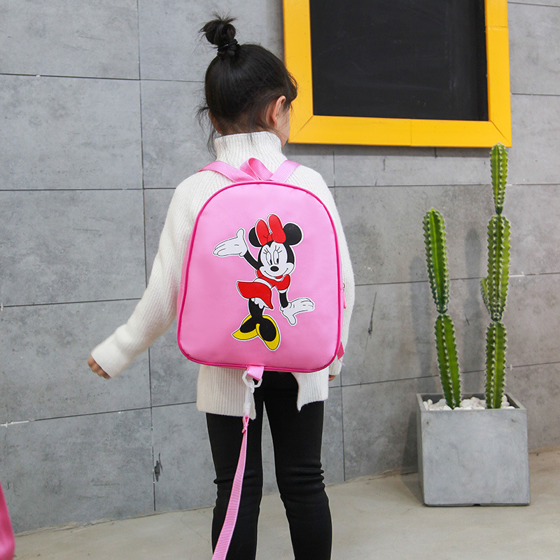 Mickey Kindergarten School Bag Male Baby 2-3-5-Year-Old GIRL'S Cartoon Princess Children Anti Lost Backpack Fashion