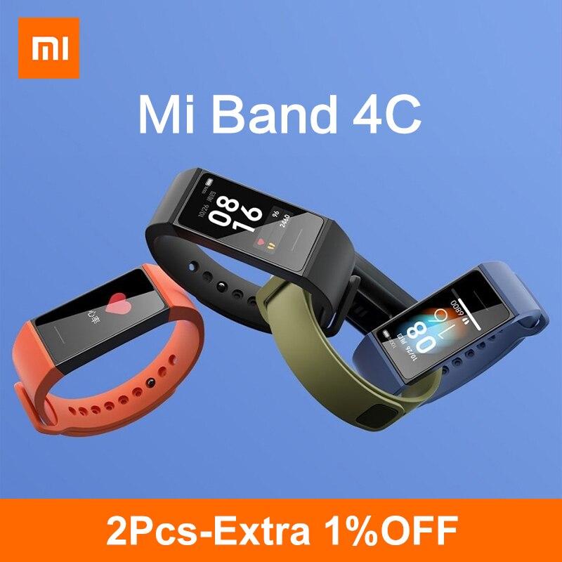 Смарт-браслет Xiaomi Mi Band 4C глобальная версия 4 C Redmi, 1,08 дюйма, большой цветной экран, трекер активности, фитнес-монитор сердечного ритма