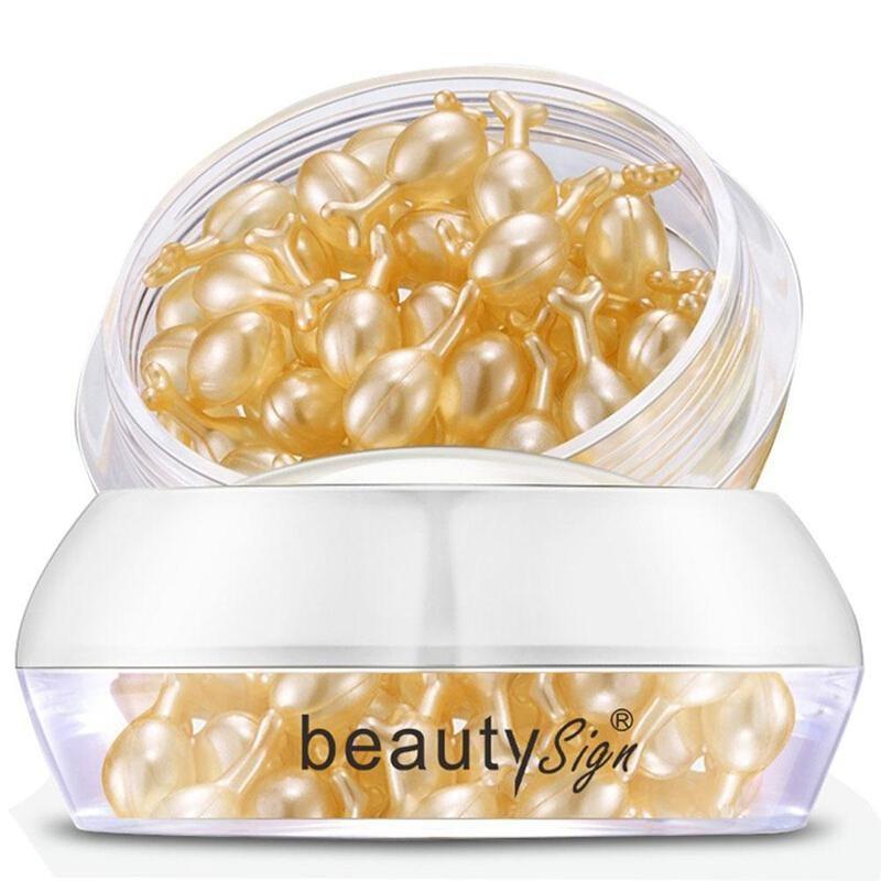 37 Capsules Fullerene Placenta Face Serum Lighten Fine Lines Brighten Skin Tone Improve Dull And Firming Young Skin