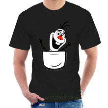 Olaf In Pocket Wholesale O Neck 100% Cotton TEE Shirt Mens Womens T-shirt @087833
