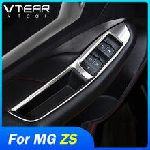 Vtear-molduras de cristal para MG ZS, molduras de marcos interiores para interruptor de ventana, panel de control, accesorios de estilismo para coche