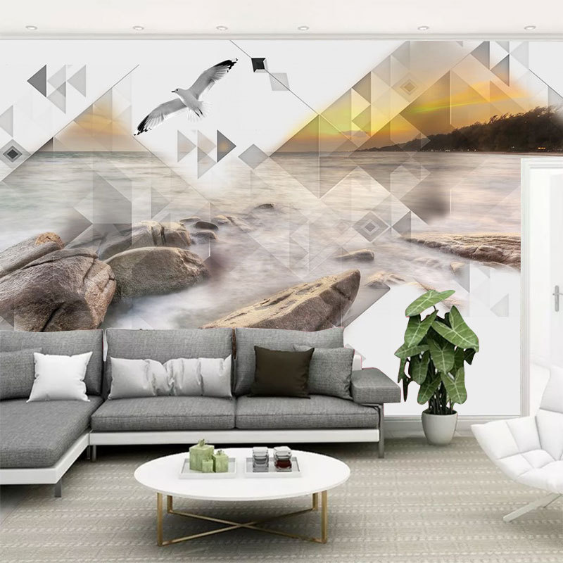 TV Backdrop 5D Living Room Minimalist Modern Geometry Mural 8D Three-dimensional Decoration Non-Woven Wallpaper Bedroom Wallpape