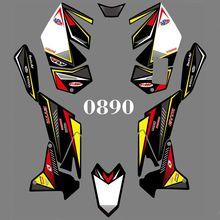 Für Suzuki LTR 450 ATV 2006 2007 2008 2009 2010 2011 2012 2013 2014 Volle Grafiken Decals Aufkleber Kit Custom anzahl Name Glänzend