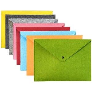 8 шт. простая однотонная А4 Большая вместительная сумка для документов деловой портфель папки для файлов химические войлочные материалы для...