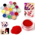 12 cores acrílico unha arte dicas uv gel em pó diy decoração conjunto manicure colorido acrílico cristal poly gel manicure conjunto