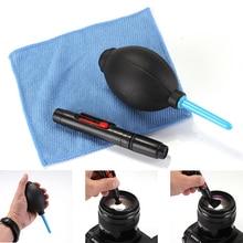 Cepillo de tela de limpieza y soplador de aire en 1, Kit de limpieza de cámaras digitales, limpiador profesional de fotografía de polvo, soplador de aire