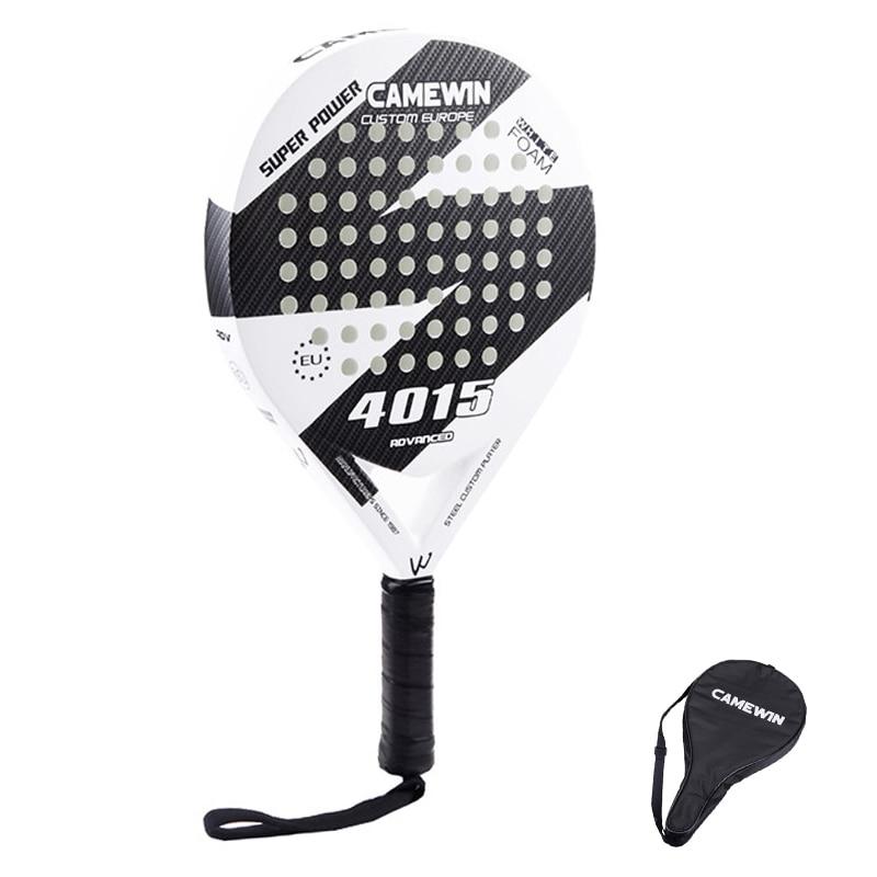 New Carbon Fiber Padel Tennis Racket Men Women New Popular Sport Soft EVA Face Tennis Paddle Racquet With Paddle Bag Cover