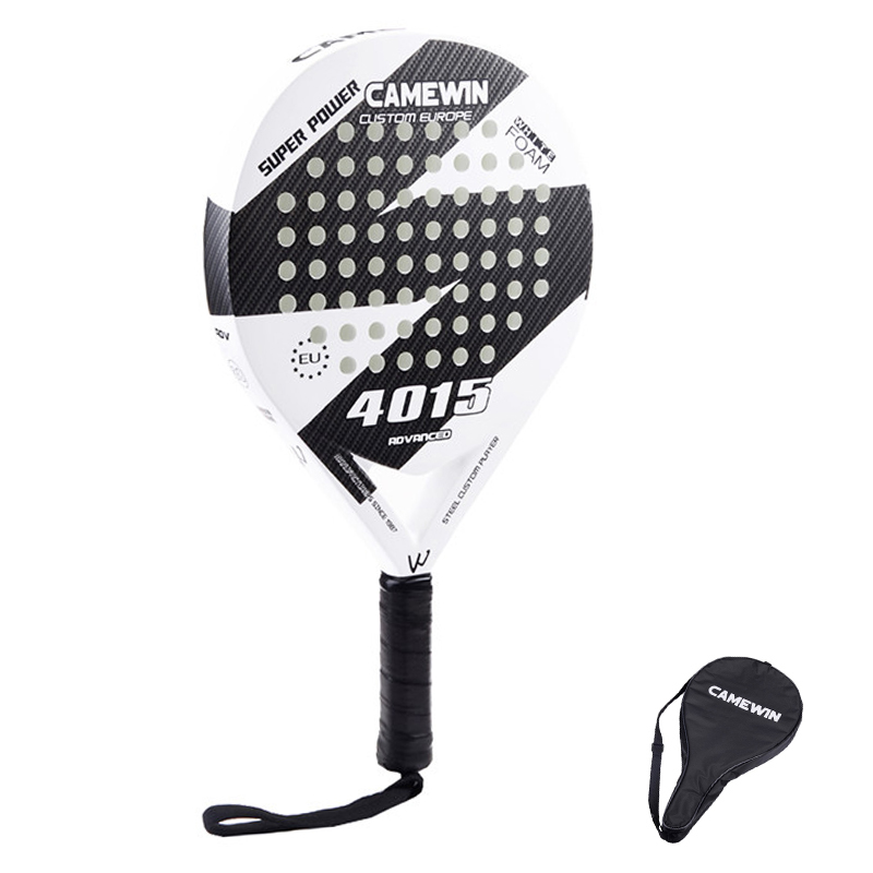 New Carbon Fiber Padel Tennis Racket Men Women New Popular Sport Soft Face Tennis Paddle Racquet With Paddle Bag Cover