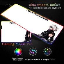 Светодиодный коврик для мыши nier automata с аниме Наруто игровой