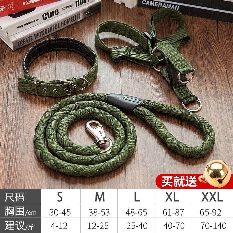 Iron Chain Anti-Bite Dog Hand Holding Rope Neck Ring Set Suppository Dog Chain Teddy Small Medium-sized Dog Tied Dog Rope Suppli