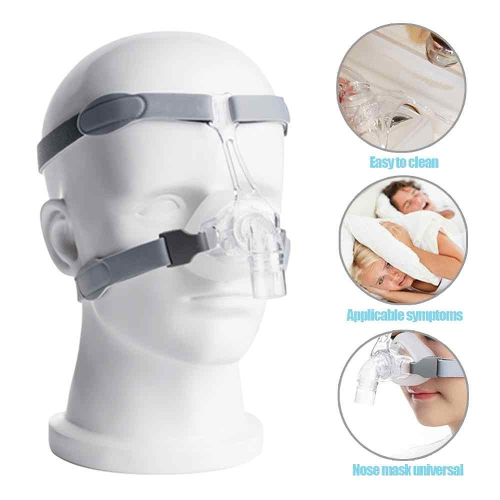 Авто BiPAP маска Универсальный респиратор Маска CPAP Бесплатный головной убор Белый