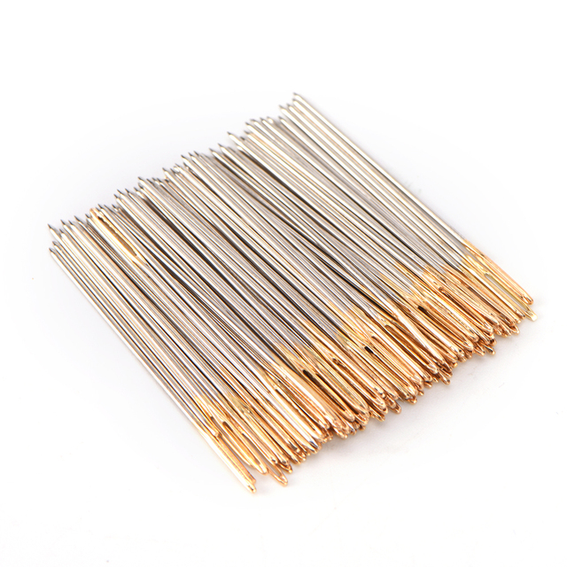 10/30/100 PCS/lot Wholesale New Golden Tail Embroidery Fabric Cross Stitch Needles Size 24 For 11CT Stitch Cloth Sewing
