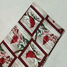 Рождество красный Lucky Bird печатных хлопчатобумажная ткань проверить лоскутное DIY шитье стеганое постельное белье детская ткань 50x105 см