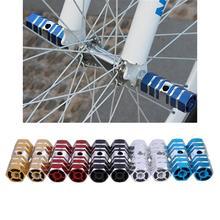 2 шт. педали для велосипеда 1 пара осей алюминиевый сплав трюк ножная педаль для BMX велосипедные запчасти для велосипеда 5 цветов