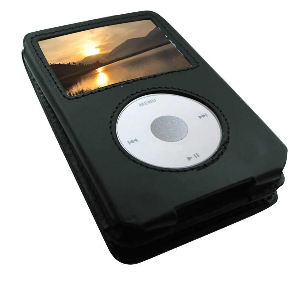 الصلبة غطاء كامل السفر بو الجلود للطي انفصال الغبار دائم واقية حالة MP3 لاعب مع كليب للأيبود كلاسيك