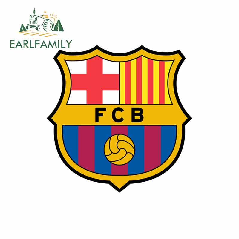 EARLFAMILY 13cm X 9.2cm For Fc-Barcelona-2002 Car Stickers And Decals Anime Fashion Occlusion Scratch Waterproof VAN Decoration