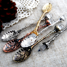 Stirring Spoon Tableware Coffee Long-Handle Retro-Style Kitchen Gift Nice 1pcs Carved