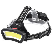 LED C0B Head-mounted Miner's Lamp Work Light Large Flood Light USB Charging Multifunctional Outdoor Camping Fishing Light 18650(China)