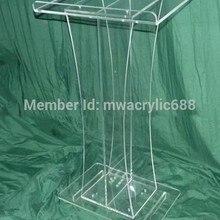 Амвон furnitureFree Красивая Простой элегантный акриловый Подиум Кафедра Lecternacrylic клеть