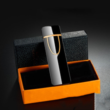 Lighters Electric-Cigarette-Lighter Rechargeable Smoking-Gadgets Gift Flameless Metal